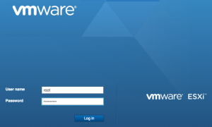 ESXi Host Client login